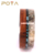 POYA Jewelry Mens Custom Design Latest Velvet Antler Wedding Band With Koa Wood And Turquoise Inlay 8mm Tungsten Carbide Ring