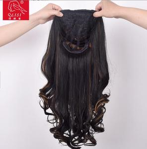 top selling cheap Soft and smooth synthetic material human hair half wig human hair full lace wig