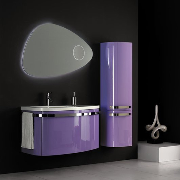 Pvc Curved Bathroom Vanity Cabinets