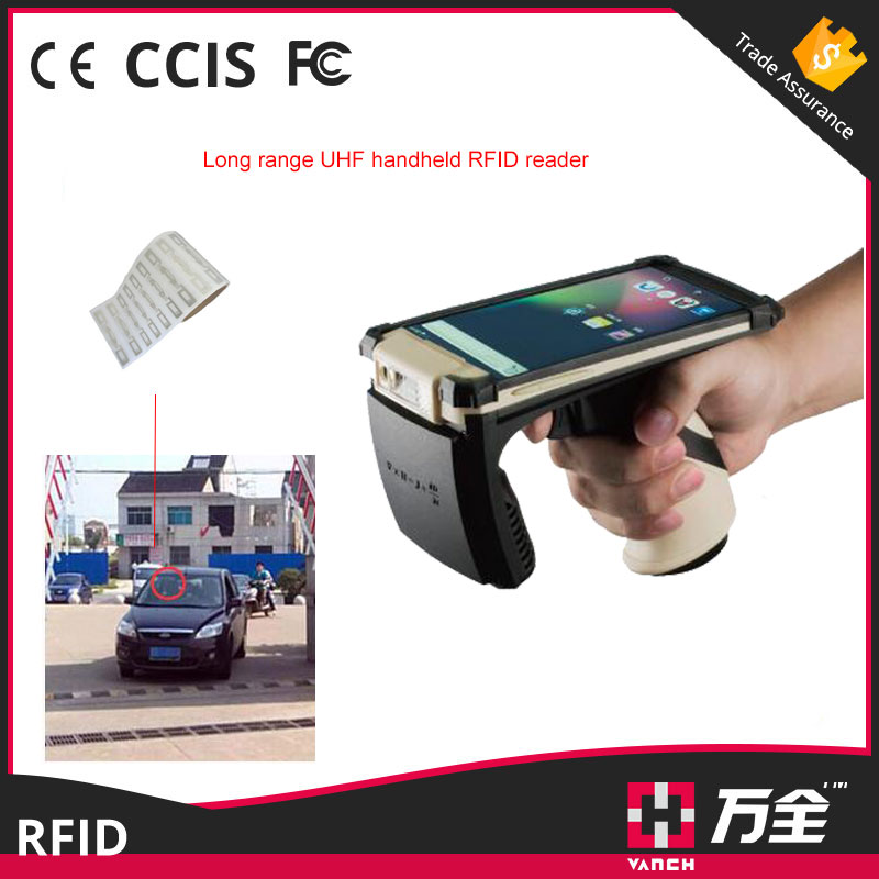 2017 Hot sale Android uhf rfid Portable Bluetooth bar code scanner