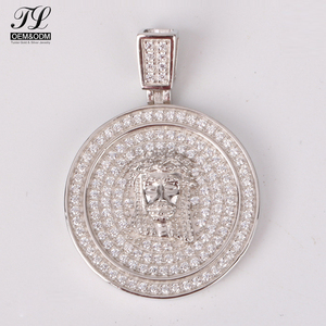 High quality cubic zirconia bling young man custom fake bling+simple gold jewelry