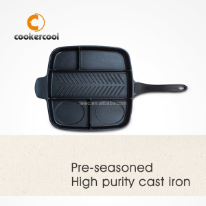 Divider For Frying Pan Cast Iron Bbq Griddle