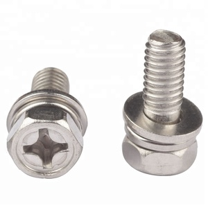 Stainless Steel Hex Phillips Flat Washer Spring Sem Screw