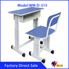 School used metal height desk adult study table chair