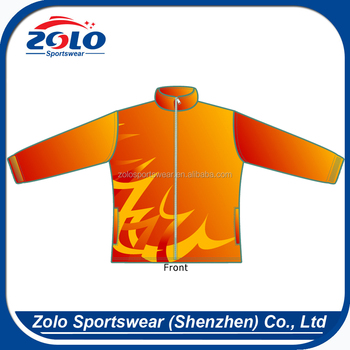Custom High quality windproof dye sublimation orange fleece jackets