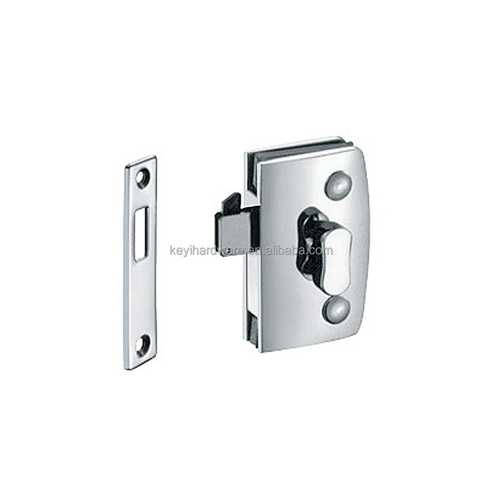 Thumb Turn Door Lock For Double Swinging Glass Door