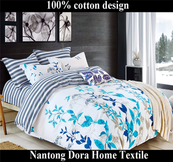 Blue Danube Big Pretty Flower Bohemian Style Bedding 100% Cotton Beautiful  Bedsheets Queen Size For