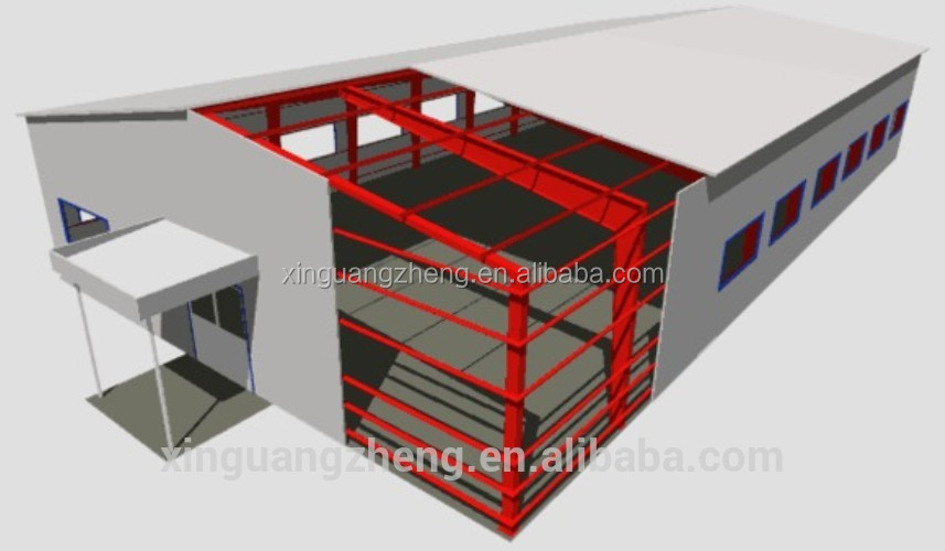 large span steel prefabricated warehouse for sale