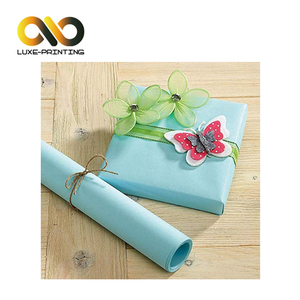 Cute green full color tissue wrapping paper for gift packaging