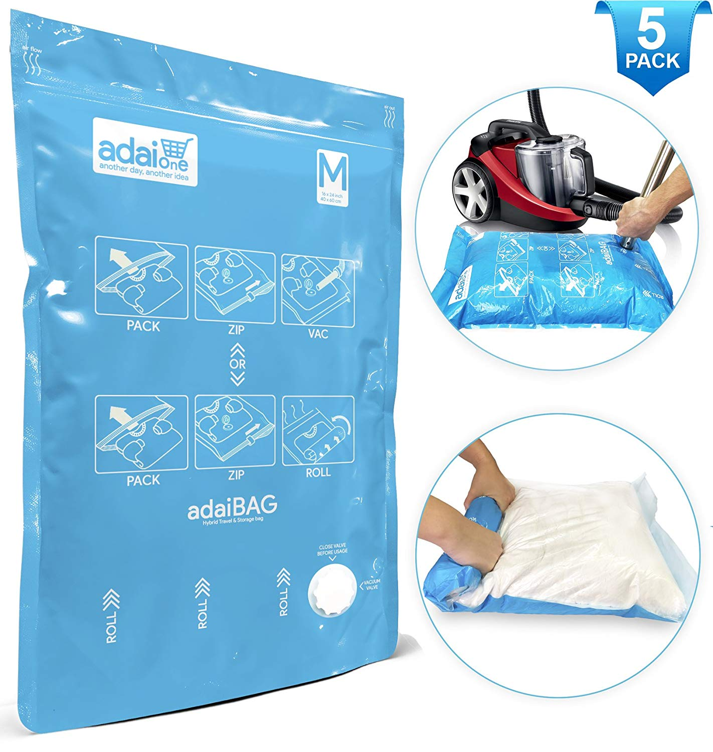 Get Quotations Adaibag Vacuum Storage Bags Or Travel Compression 2018 Innovation Now You Have 2