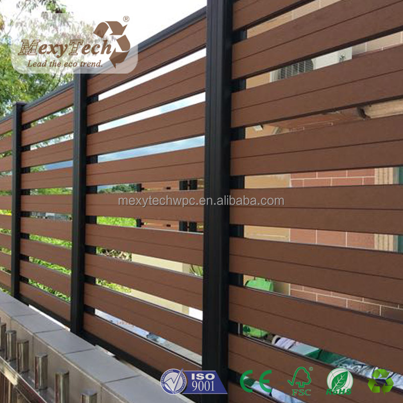 DIY Exterior Wood Plastic Composite WPC Wooden Fence