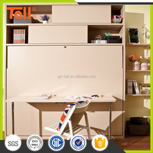 Modern twin size wall bed with desk wall mounted bed table