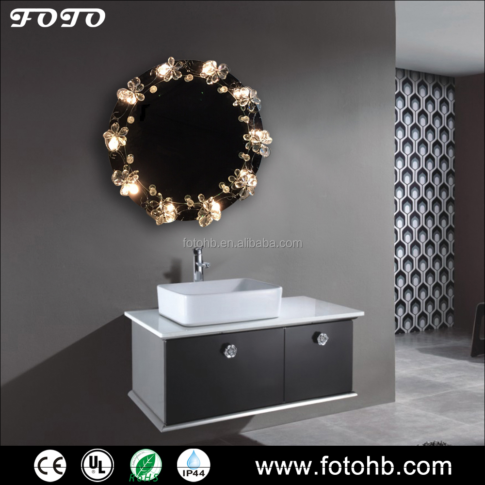 Foto rond forme clair dressing miroir avec luxe cristal for Miroir indonesia