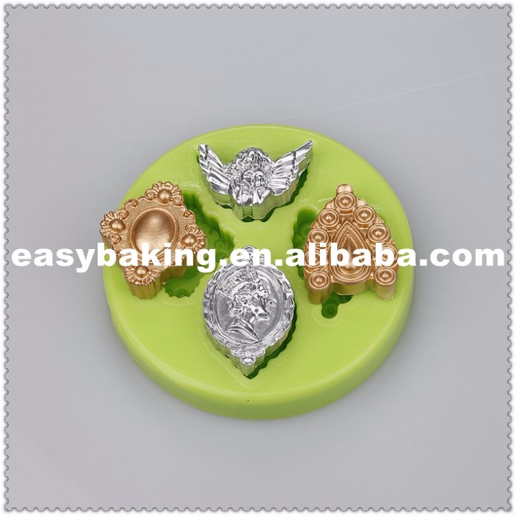 ES-7018 Charming Jewel Brooch Cake decorating fondant silicone molds