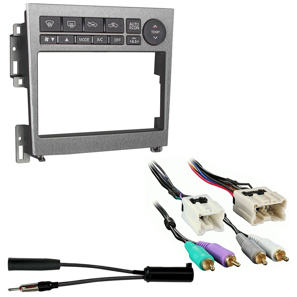 Buy Dl Auto Dash Kit Infiniti G35 2005 2006 Full W Automatic Wiring Harness Metra 95 7605a Double Din Stereo Installation For 2007 With Antenna Adapter