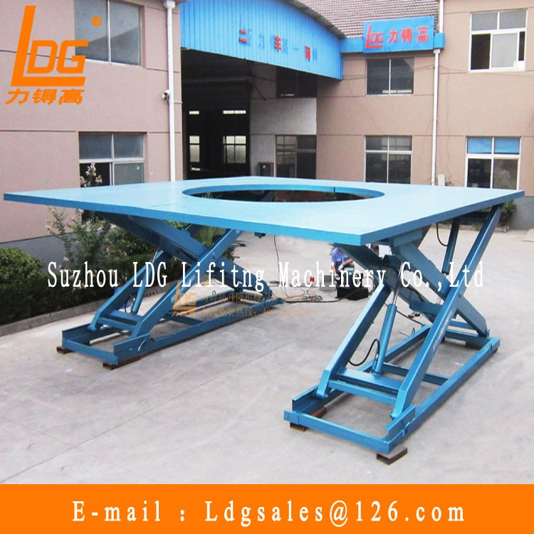 Stationary double scissors hydraulic table lift with SJG0.3-0.5D