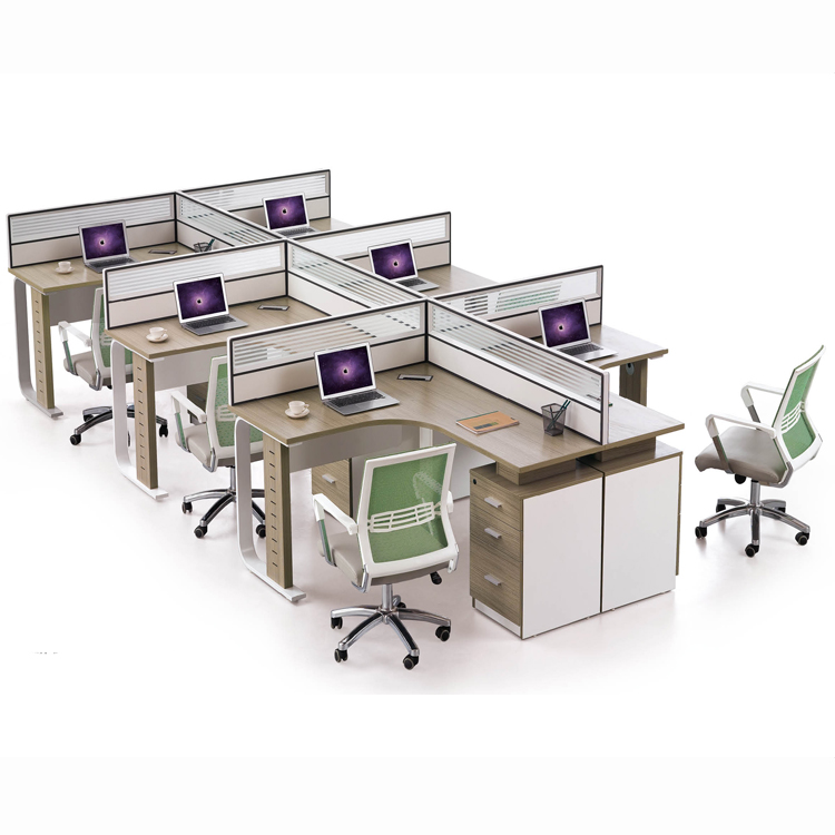 Office Furniture Outlet 13 Person Mdf Office Partition Wood Office