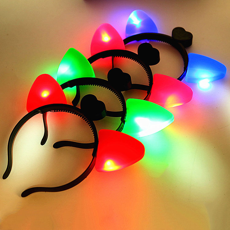 Originality Childrens Luminescence Toys Cat Ears Halloween Plastic Hairband