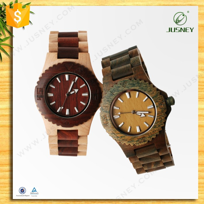 Classical men/women wooden watch with innovative design generous exclusive custom logo watch as best gift