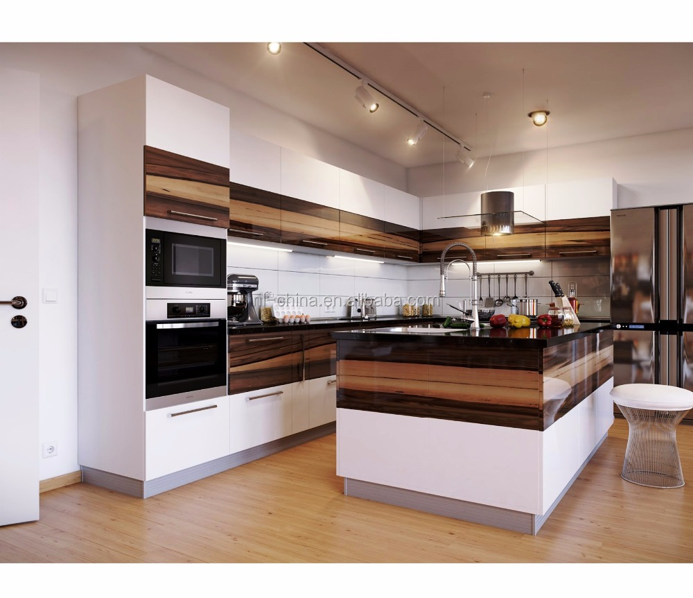3 Accept Customize Cheap Price New Mdf / Pvc Kitchen Cabinets