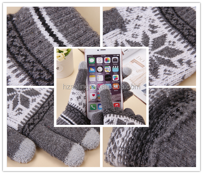 Women iPhone Winter Gloves iPad Smartphone iglove Knitted Touch Screen Gloves