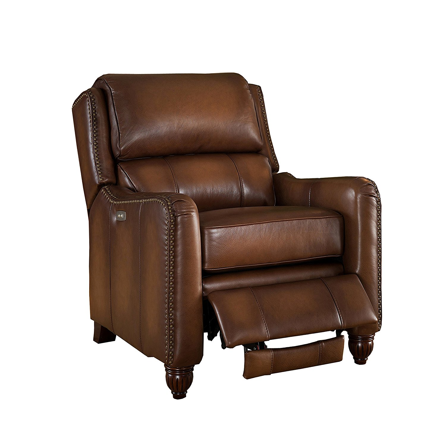AMAX Leather - Concord 100% Leather Power Recliner, Brown