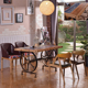 new design modern restaurant cast iron dining tables and chairs cafe furniture