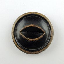 eye shape black color anti effect wood button