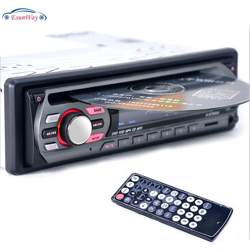 EsunWay 1Din 12V Car DVD <strong>Player</strong> Car Audio Multi Function Vehicle CD VCD <strong>Player</strong> with Remote Control MP3 <strong>Player</strong>