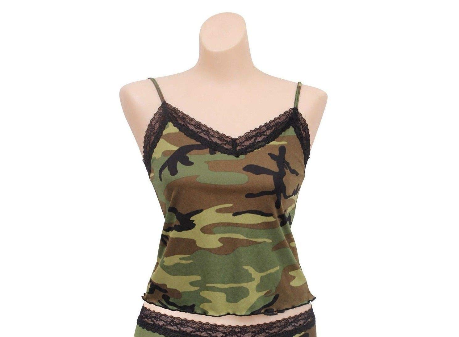 CAO outdoor product Women's Lace Trimmed Woodland Camo Camisole
