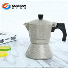 Aluminum moka pot espresso coffee maker
