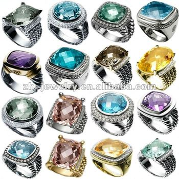 latest fashion silver rings jewelry
