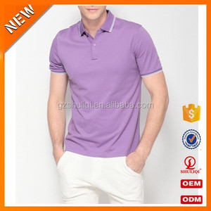 Fashionable blank new polo shirt for men purple polo- neck dry fit shirt product type custom breathable polo shirt