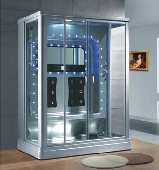 luxury steam room shower cabin steam shower with led decoration rectangle - Luxury Steam Showers