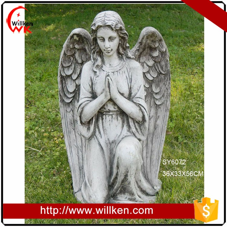 Garden decoration MGO angel figurines statue for sale