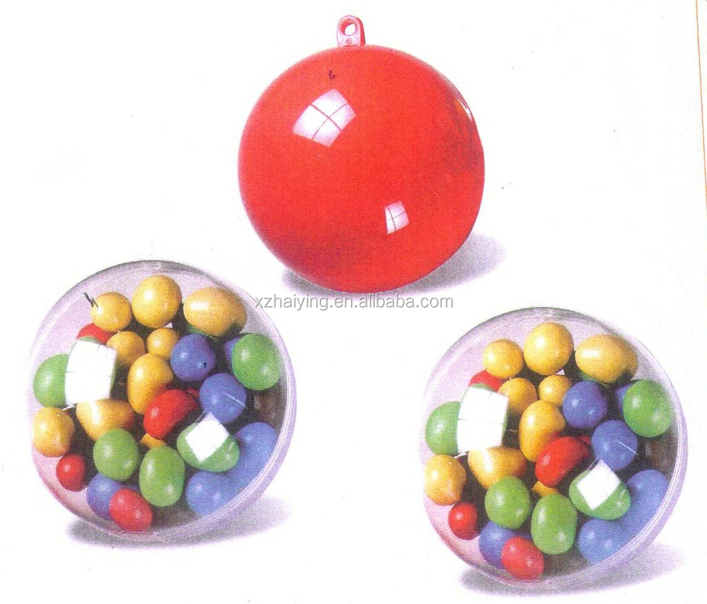 Clear fillable plastic ornaments - 60mm Clear Plastic Acrylic Fillable Ball Ornament