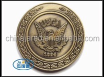 Factory Price Wholesale Bulk Round Antique Brass Metal Crafts Souvenir Coin Medal