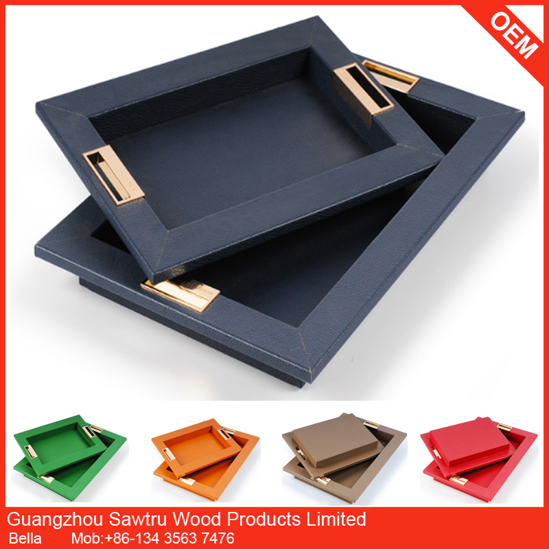 wholesale wooden serving tray wood cash tray with handle