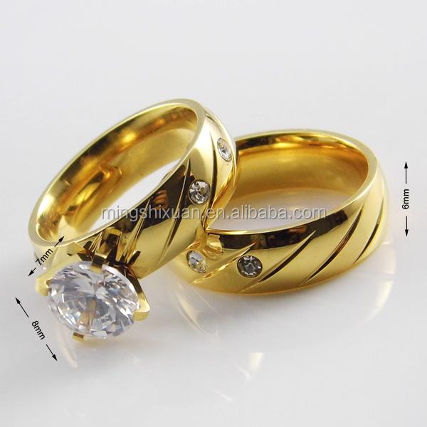 Famous Brand Fashion Jewelry Dubai Wedding Rings Yellow Gold Ring