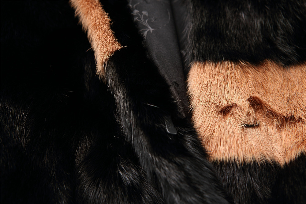 Germany fashion jacket keep warm mink fur coat in winter for women