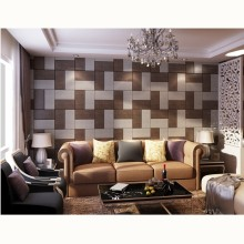 Classic atmosphere leather panel for interior background wall decor