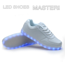 Brand/Logo customized colorful rechargeable water proof adult kids light up LED Shoes