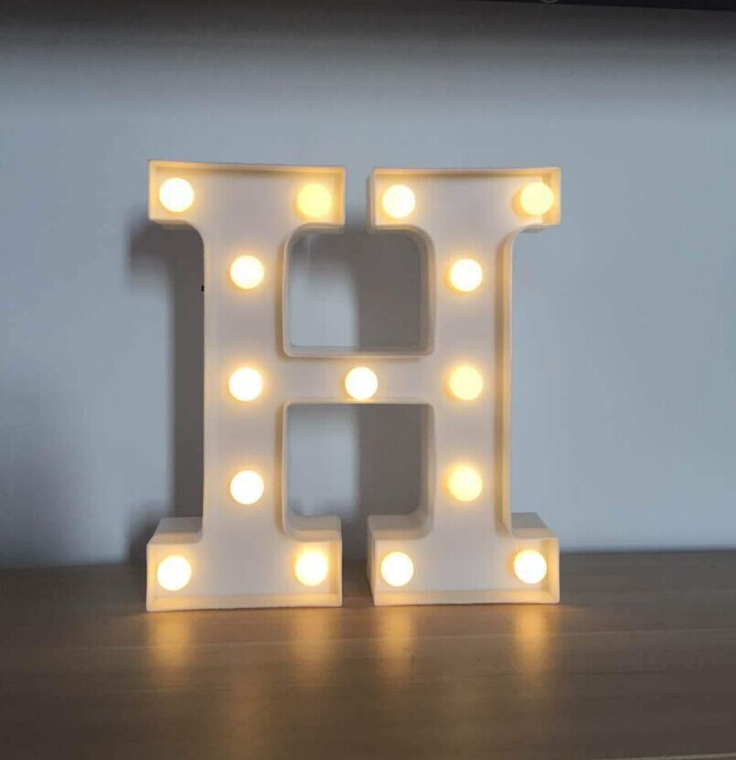 Warmly new products led marquee letter light for kids room decoration