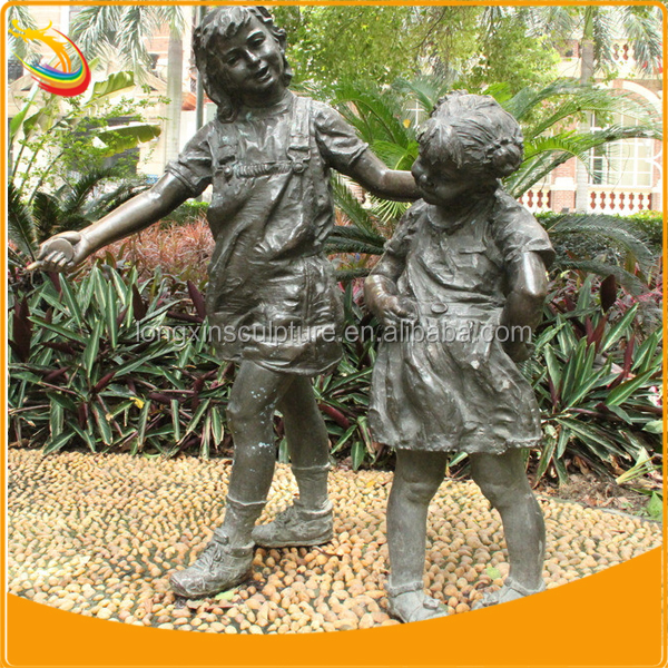 children garden statues. Large Metal Garden Sculpture Outdoor Child Statues Dancing Girl Bronze Children