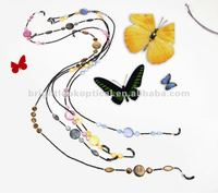 2012 Fashion reading glasses chain and cord ,beaded glasses chain
