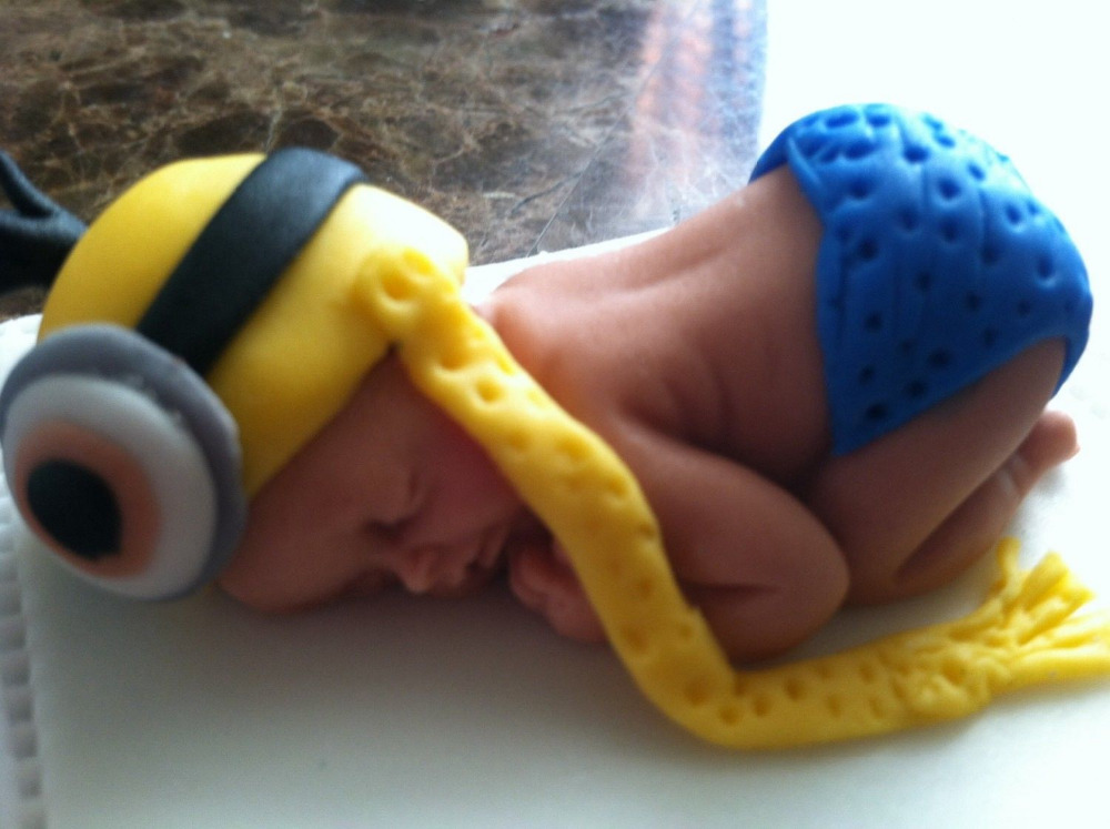 Minion Baby Shower Cake Topper