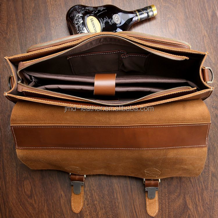 High Quality Genuine Leather Men's Briefcase Men Leather Executive ...