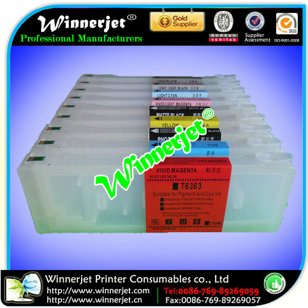 T6361-T6369 Rechargeable Ink Cartridge for Epson 7890/9890 Printer Ink Cartridge