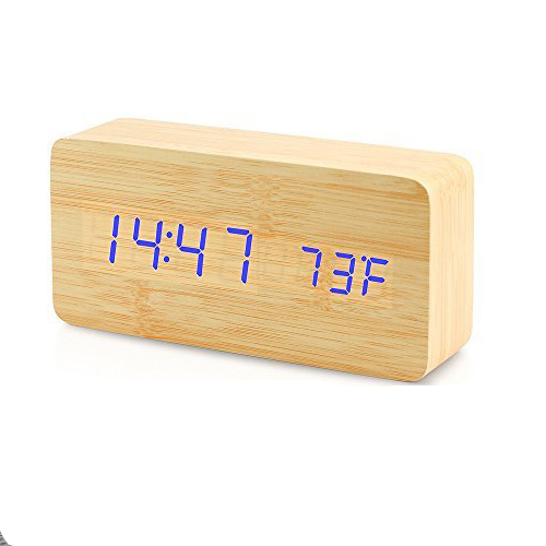 2019 New Products Factory Supplier Table Digital Wooden Alarm Clock