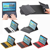 Crazy horse pattern bluetooth keyboard leather case for Samsung Tab S 10.5 T800 with ABS Keyboard